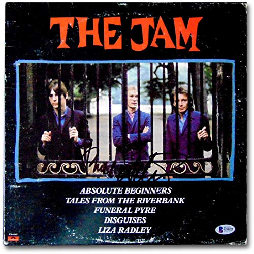 (Paul Weller Signed Autographed Record Album Cover The Jam Beckett G50251)