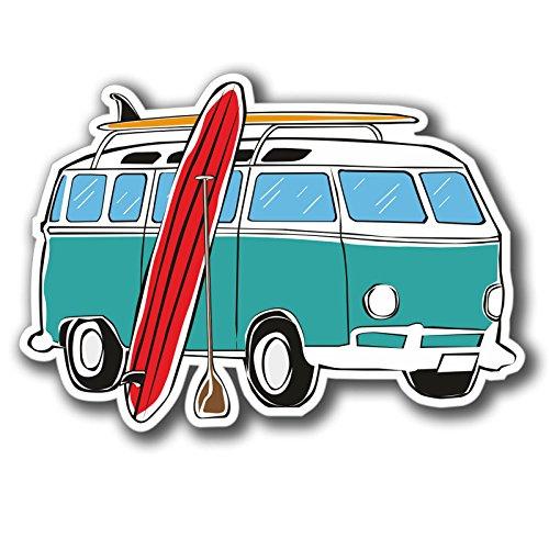 2 x Camper Van Stickers (Van Hippy)