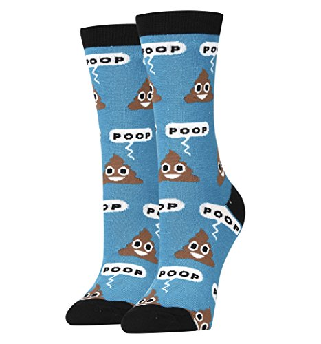 Oooh Yeah Socks Women's Luxury Combed Cotton Funny (POOP!) from ooohyeah