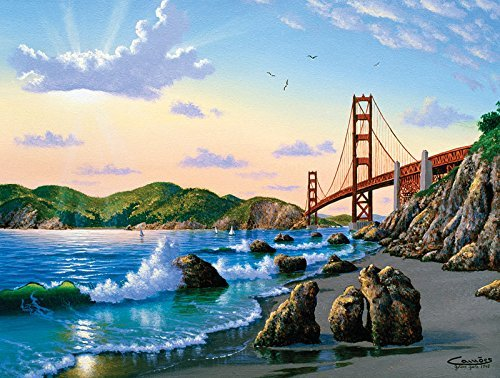 SUNSOUT INC Bridge View 500 pc Jigsaw Puzzle (Best Way To Visit Yosemite From San Francisco)