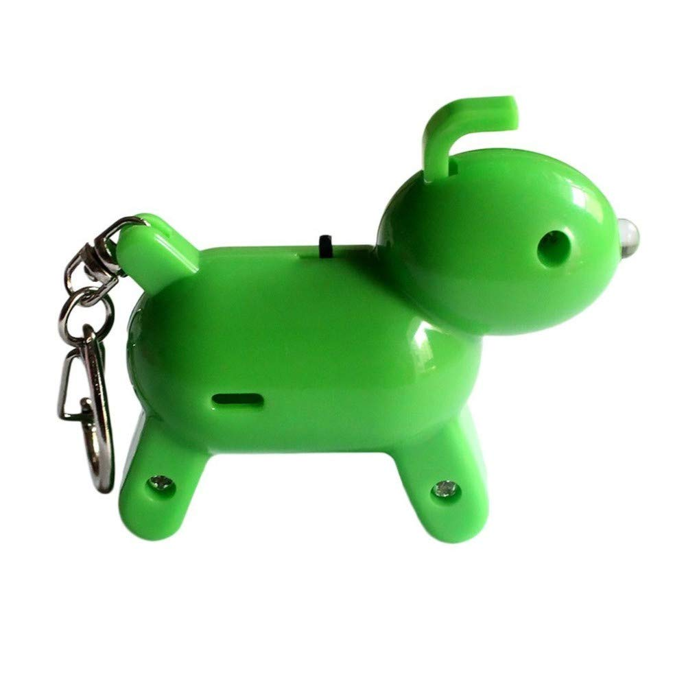 SUKEQ Cute Puppy Shape Finder Bluetooth Tracking Locator Child Pet GPS Locator Alarm Key Tracker for iPhone Android (Green)
