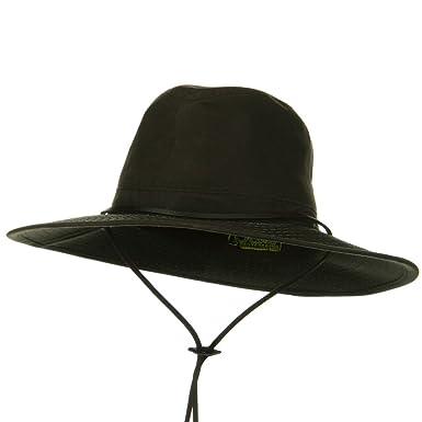 Amazon.com  DPC Scalar UPF 50+ Oil Cloth Safari Hat - Brown M  Clothing 9ece1fe511f8