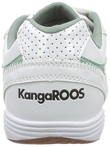 KangaROOS Power Court - Zapatillas Unisex Niños Blanco - Weiß (white/blue surf 084)