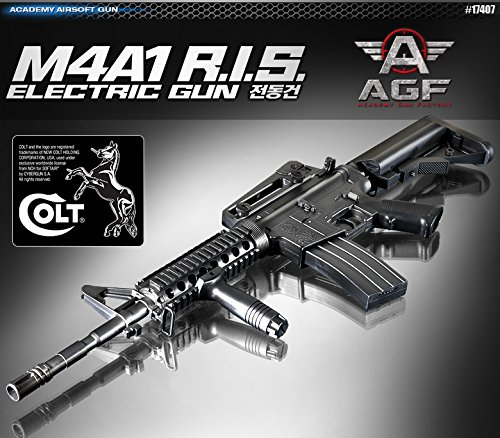 Academy M4A1 R.I.S. AUTOMATIC ELECTRIC Gun BB Gun #17407 by - Academy Business Air
