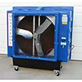 Quietaire QC36D1 36 Inch Direct Drive Portable Evaporative Cooler With 2,500 Square Foot Coverage Area For Sale