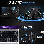 UtechSmart Venus Pro RGB Wireless MMO Gaming Mouse, 16,000 DPI Optical Sensor, 2.4 GHz Transmission Technology…