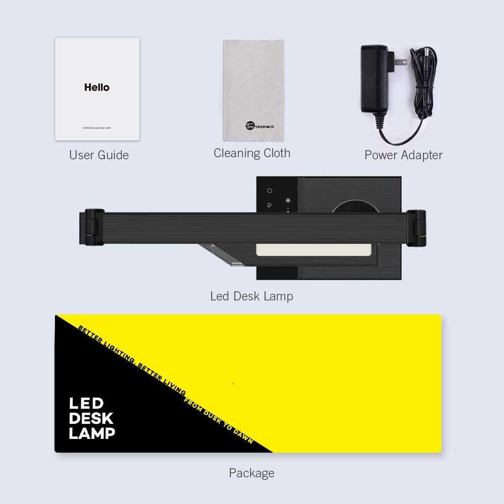 TaoTronics TT-DL16 Stylish Metal LED Desk Lamp, Office 5V/2A USB Port, 5 Color Modes, 6 Brightness Levels, Touch Control, Timer, Night Light, Official Member of Philips Enabled Licensing Program by TaoTronics (Image #9)