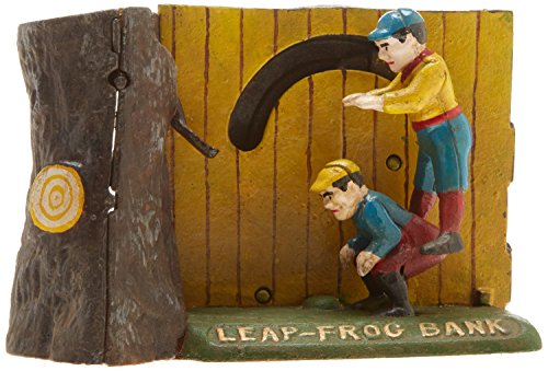 Design Toscano Leap Frog Collectors' Die-Cast Iron Mechanical Coin Bank by Design Toscano (Image #2)