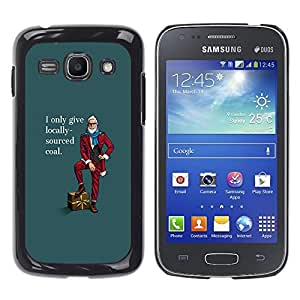 Qstar Arte & diseño plástico duro Fundas Cover Cubre Hard Case Cover para Samsung Galaxy Ace 3 III / GT-S7270 / GT-S7275 / GT-S7272 ( Local Buy Funny Hipster Lifestyle Beard Man Coal)