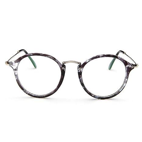 8739c793822812 Forepin reg  Lunettes de Vue Rondes Unisex Cadre Frame Lentille Claire pour  Homme et Femme Vintage