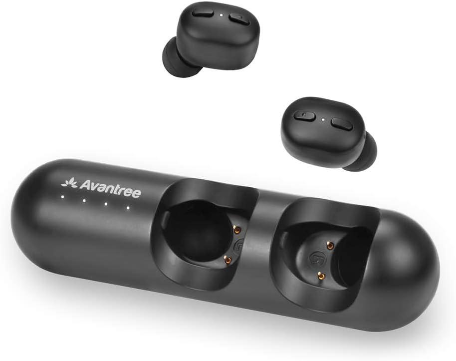 Avantree Mini True Wireless Wirklich Kabellose Ohrhörer Für Kleine Ohrenkanäle Sport Bluetooth 5 0 Kopfhörer Mit Lautstärkeregler Mikro Klarer Sound Ladehülle 28 Stunden Spielzeit Tws110 Elektronik