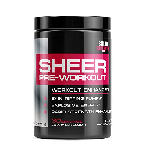 Sheer NATURAL Pre Workout Supplement, No Jitters/Crash, Science-Backed Formula For The Most Satisfying and Productive Workouts Of Your Life, 30 Servings, Fruit Punch ( Packaging may vary )