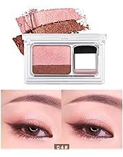 Gusspower 1Pc Aplicador de Sombra de Ojos Perezoso Sombra de ojos gradiente de dos tonos Herramientas de Maquillaje (D)