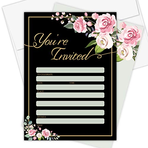 Invitation Cards - 25 Pack - Envelopes Included,