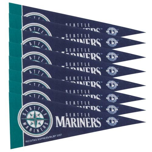 Rico Industries MLB Seattle Mariners Pennant Mini 8 Piece, One Size, Team Colors (Seattle Mlb Mini Mariners)