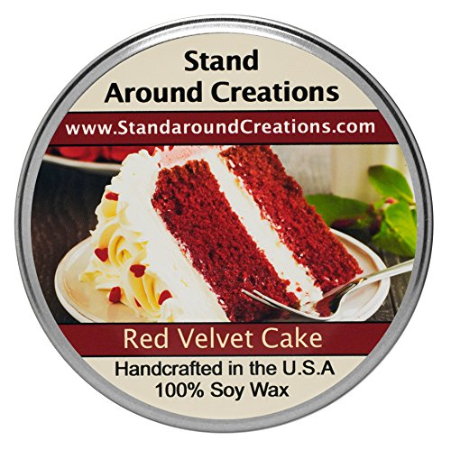 Premium 100% Soy Tureen Candle - 3 oz. - Red Velvet Cake - A decadent blend of chocolate cake w/sweet cream cheese frosting. (Red Velvet Cupcakes With Cream Cheese Frosting)