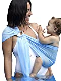 Ring Sling Baby Wrap Carrier for Newborn and Toddler, Lightweight Breathable Mesh Baby Wrap, Summer Swimming Pool Beach