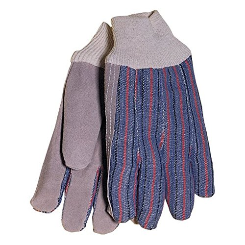 Economy Leather Palm Cuffed Gloves -
