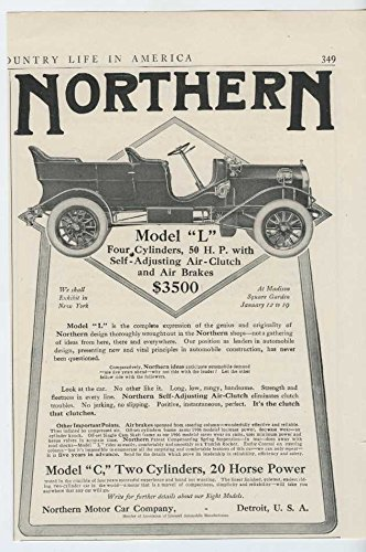 1907 Northern Model L Detroit Mi Auto Ad Equitable Life Insurance