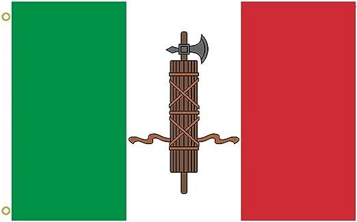 Gran bandera una narración de un típico bandera utilizado por fascistas italianos desde 1919 A 1926