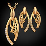 GDSTAR Earrings Set 18K Gold Plated Platinum Plated Jewelry Jewelry Sets