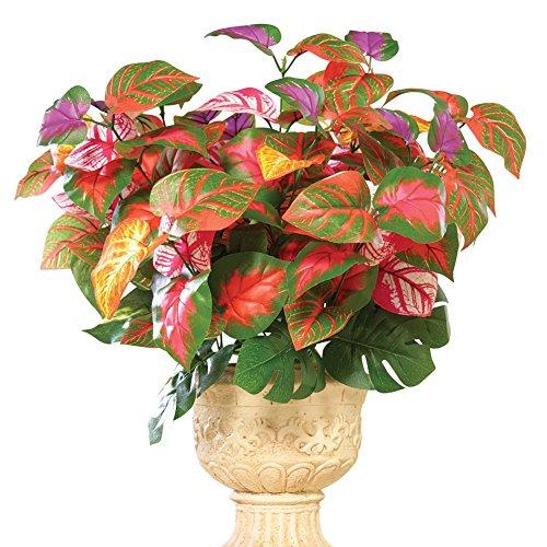 Rainbow Plant Artificial Maintenance-Free Bouquet Bush - Set of 3