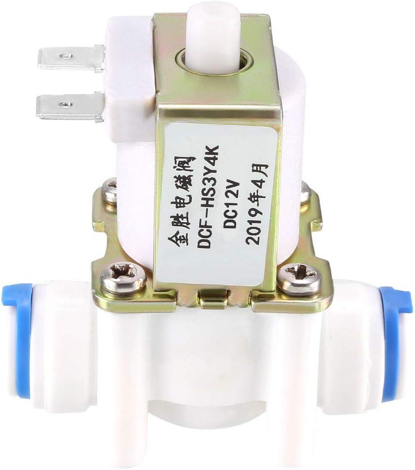 8 sourcing map Electrovanne Eau DC 12V NO Normalement Ouvert Connexion Rapide G3