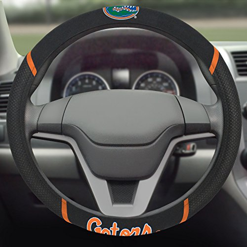 FANMATS  14810  NCAA University of Florida Gators Polyester Steering Wheel Cover ()