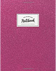 Notebook: Cute pink sparkle glitter 'You glow girl' | Journal for women and girls | ★ School supplies ★ Personal diary ★ Office notes | 8.5 x 11 - A4 notebook | 150 pages workbook