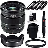 Fujifilm XF 16mm f/1.4 R WR Lens + 67mm +1 +2 +4 +10 Close-Up Macro Filter Set with Pouch + 67mm Multicoated UV Filter Bundle 5