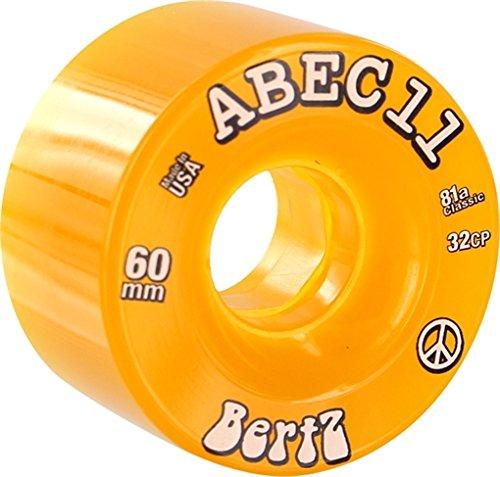 ABEC 11 Bertz Amber Skateboard Wheels - 60mm 81a (Set of 4)