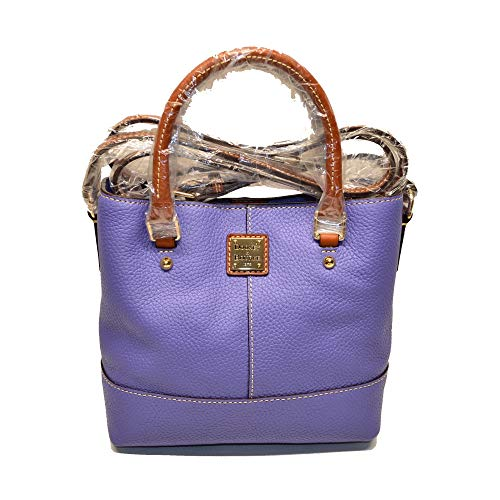 Dooney and Bourke Mini Chelsea Pebble Leather Crossbody Bag Lavender ()