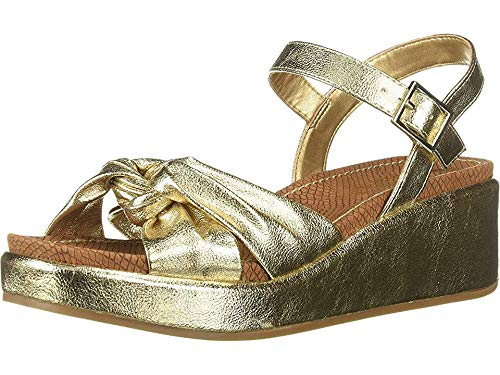 (Circus by Sam Edelman Women's Stephanie Heeled Sandal, Light Gold Metallic Crackle 9 M US)
