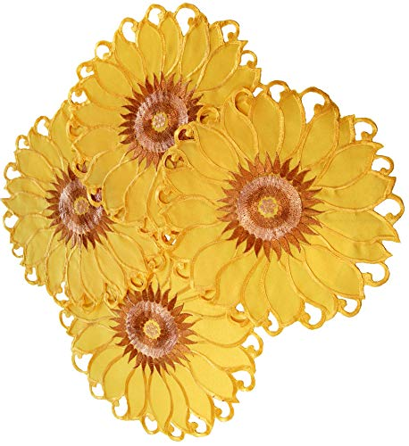 EcoSol Designs Sunflower Table Topper Centerpiece Placemats (15