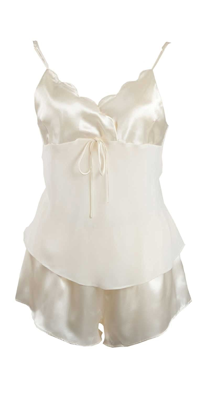 367009d1462ede Beste adonia mode Pyjama Kurz Shorty Satin & Chiffon Gr.40/42-48/50 ...