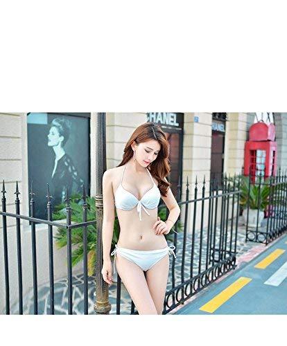 coréen Taille coloré Ensembles Mince De Bain Maillot Maillots Fuweiencore Xl Sud Bikini Bain Deux Blanc nw6BICTqx