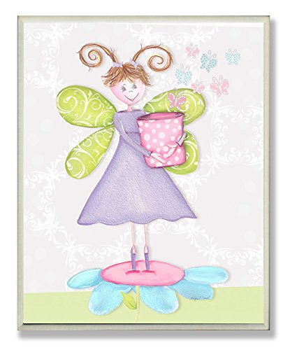 Princess Canvas Fairy - The Kids Room by Stupell Fairy Princess with Pig-Tails Rectangle Wall Plaque