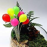 DatingDay 1x Fairy Garden Balloon Bunch Miniature Dollhouse Craft Plant Pot Ornament Decor Toy, Round Shape