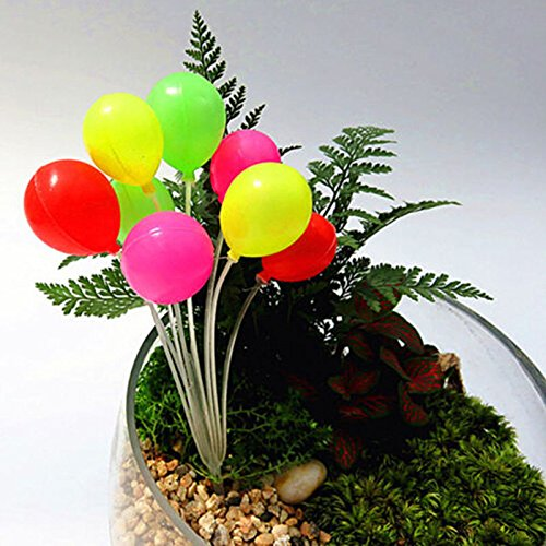 DatingDay 1x Fairy Garden Balloon Bunch Miniature Dollhouse