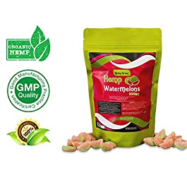 Hemp Watermelon Gummies 300mg- 20mg per Serving- 30 ct- Organic Hemp Extract – Relaxing, Pain Relief, Stress & Anxiety Relief – Sleep Better by Living Green (WaterMelon's)