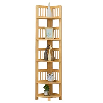 YXLAB Regal 5-Tier-Holzrahmen, Drei Eckregal, Regal, Bücherregal ...