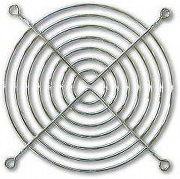 Rejilla para ventilador, 92 x 92 mm, metal cromado: Amazon.es ...