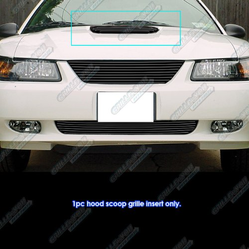 APS F66011H Black Powder Coated Grille Bolt Over for select Ford Mustang Models