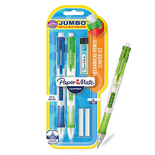 Paper Mate Clearpoint Mechanical Pencils with Refills, 0.9mm, HB #2, 2 Pack]()