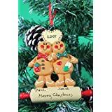Personalized Christmas Tree Decoration Ornament Gingerbread Couple -Get your desired names on the items- A perfect Christmas gift by Frame Company