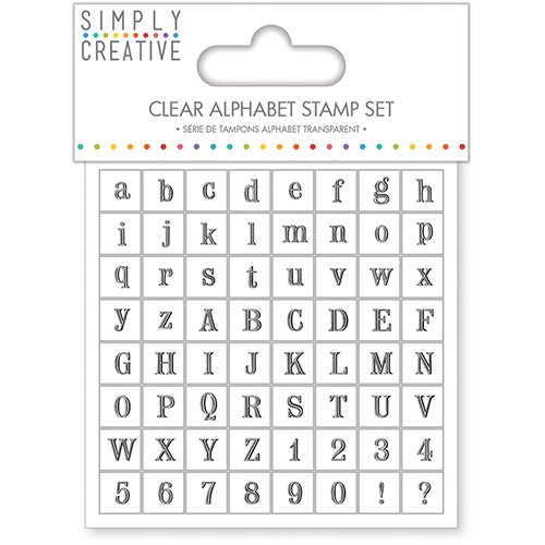 Simply Creative Clear Alphabet Letters Stamp Set - 64 Stamps - Serif Font ()