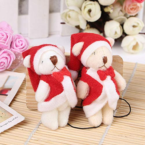 PKRISD Wholesale 100Pcs/Lot Mini 4Cm Stuffed Christmas Plush Bear Toy Bouquet Decoration Mini Dolls of Plush Stuffed Bear Toy Cool Must Haves Friendship Gifts The Favourite Toys from PKRISD