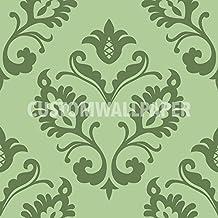 Aramis Black Patterned Wallpaper by CustomWallpaper.com