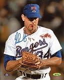 Nolan Ryan Signed Autographed Texas Rangers Bloody Lip 8x10 Photo TRISTAR COA