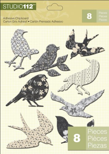 K&Company Studio 112 Chipboard Stickers, Birds